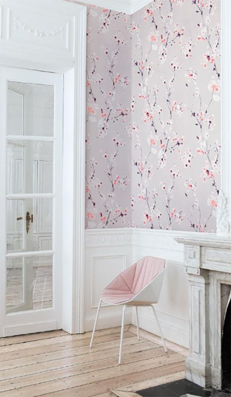 Papier peint - Khroma altea (Alt002) Fleurs rose